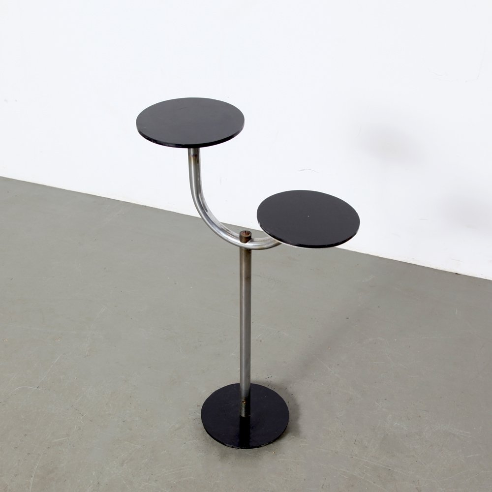 Art deco plant stand with 2 levels, 1930s