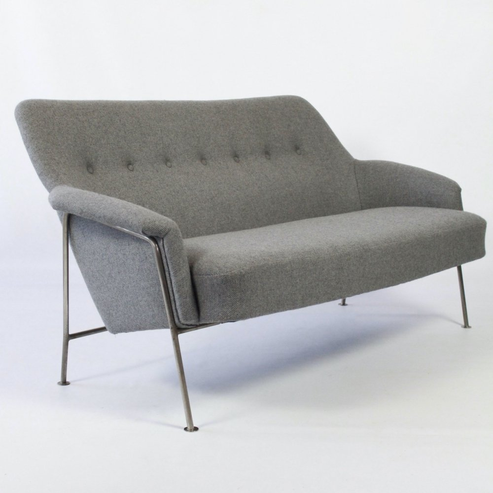 Rare vintage Model 162 two-seater sofa by Theo Ruth for Artifort Holland