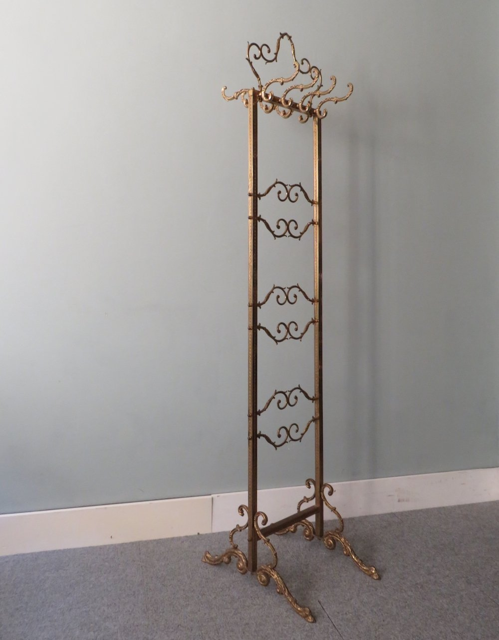 Free standing Hollywood Regency coat rack, 1970s