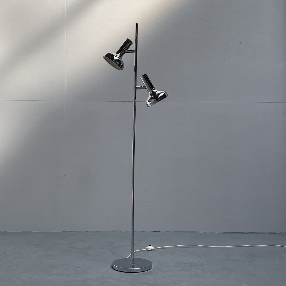 Double spots floor lamp by Sölken Leuchten, Germany 1960s