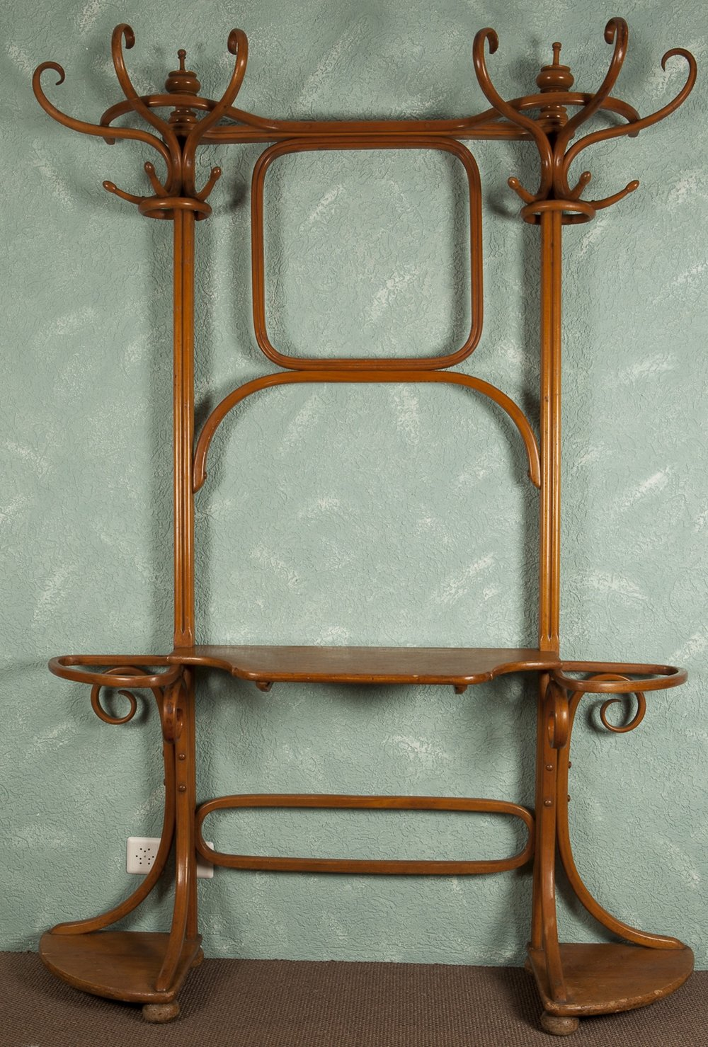 Thermo moulded wooden coat rack, 1920s