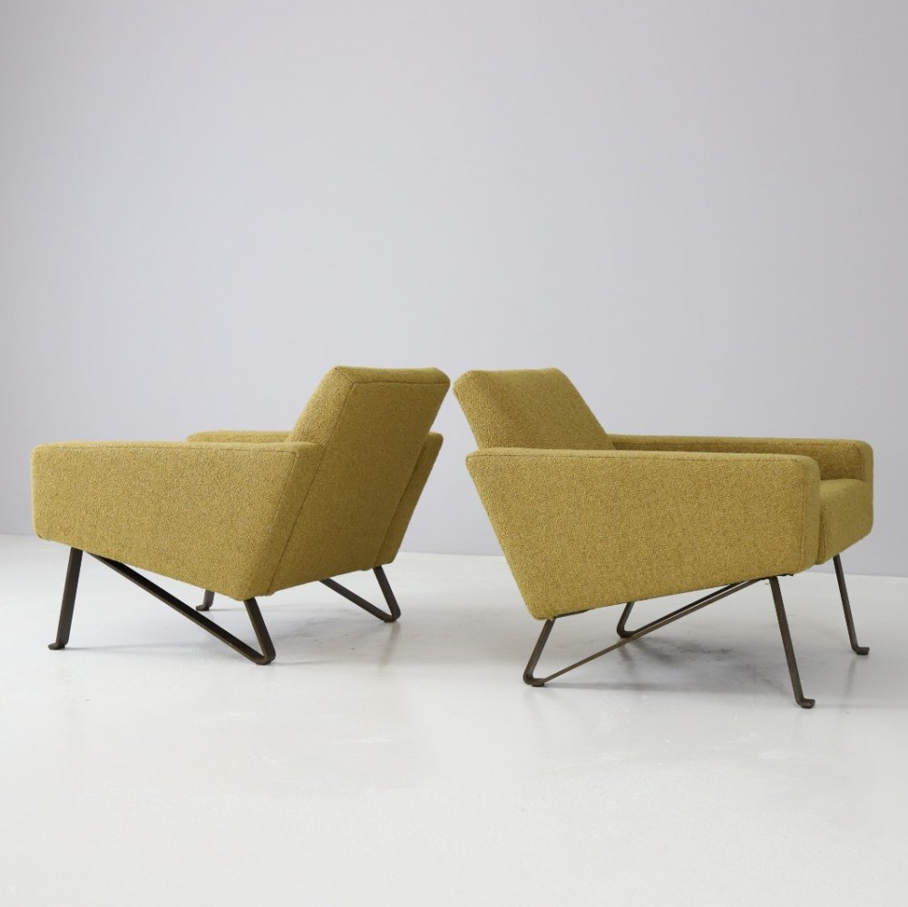 Rare pair of lounge chairs by Rob Parry for Gelderland, 1950s