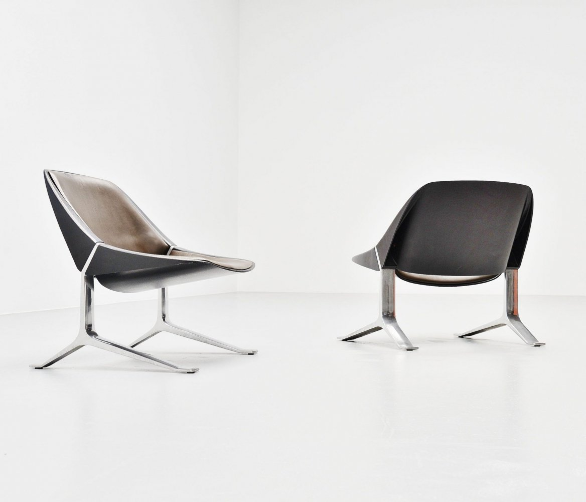 Pair of Knut Hesterberg lounge chairs, Germany 1971