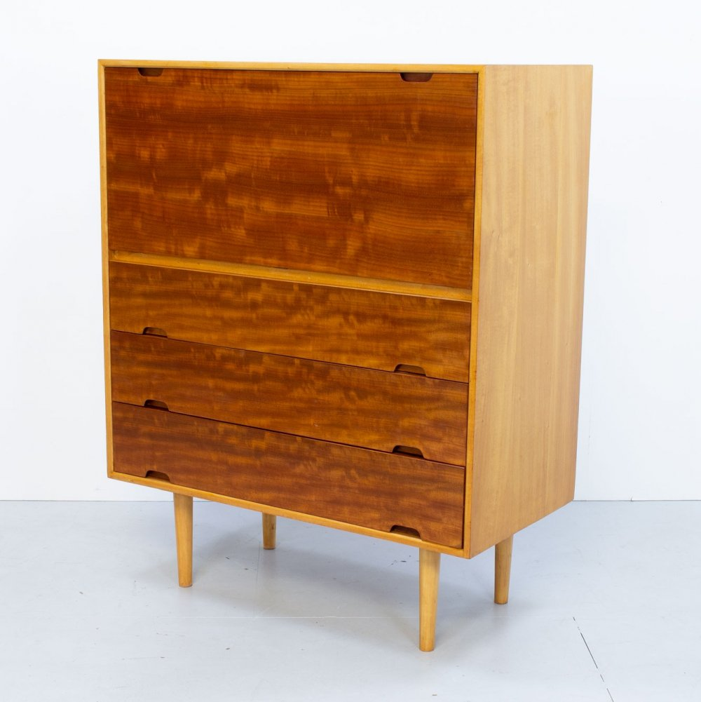 Robin Day Hilleplan Cherry Bureau by Hille, 1950s
