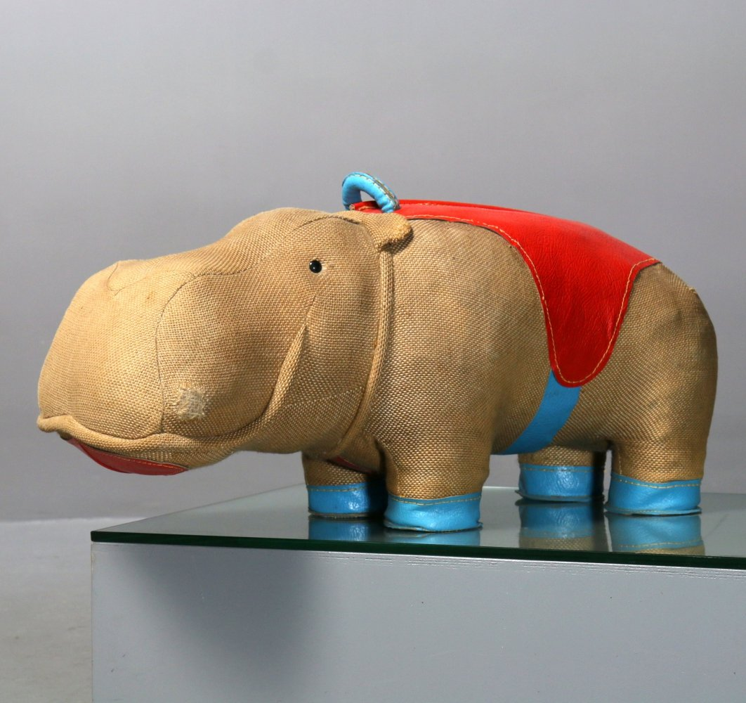 Therapeutic Toy Hippo Mocky Renate Müller for H. Josef Leven KG