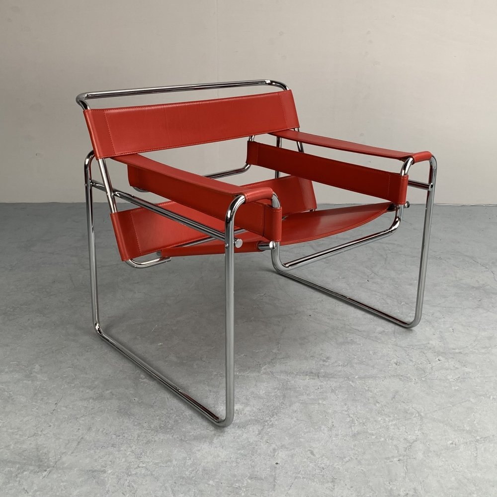 Wassily B3 Club Chair by Marcel Breuer for Fasem, Italy 1980s