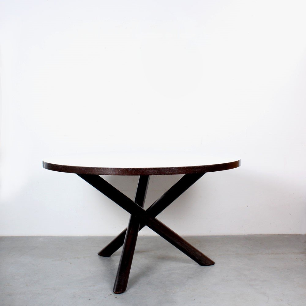Tripod dining table by Gerard Geytenbeek for AZS Meubelen, 1960s
