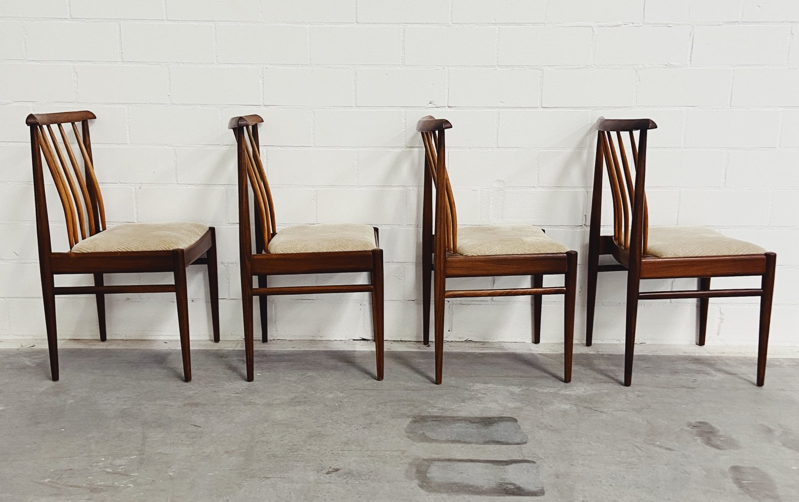 Set of 4 Vintage Scandinavian Dining Chairs, 1960s