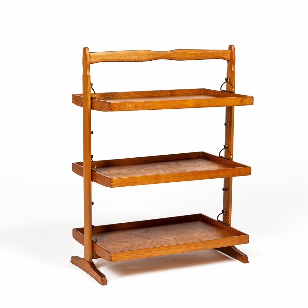 Rare small table with 3 trays (complete set) by Jacob Müller