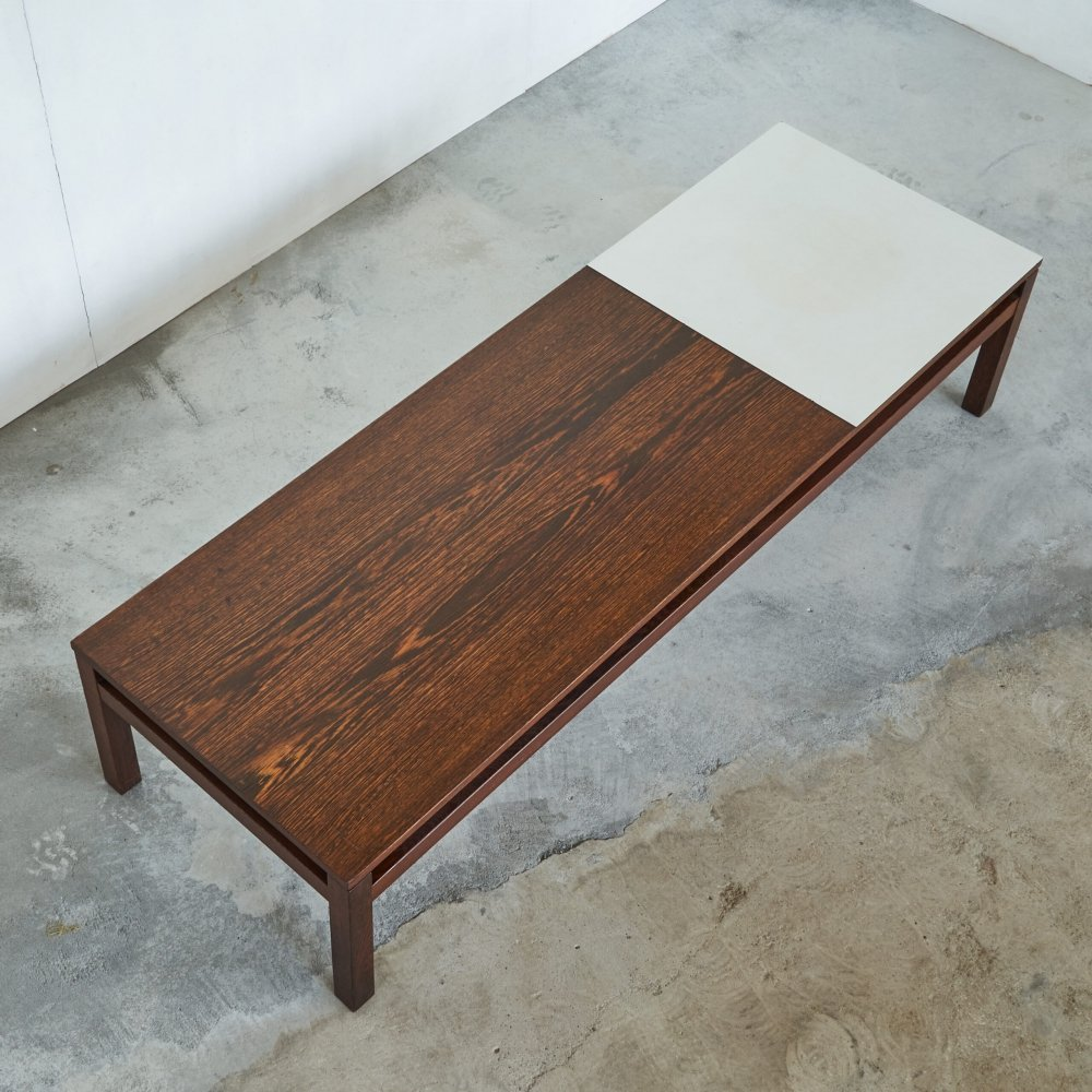 Coffee table in Formica & Wengé by Kho Liang Ie for