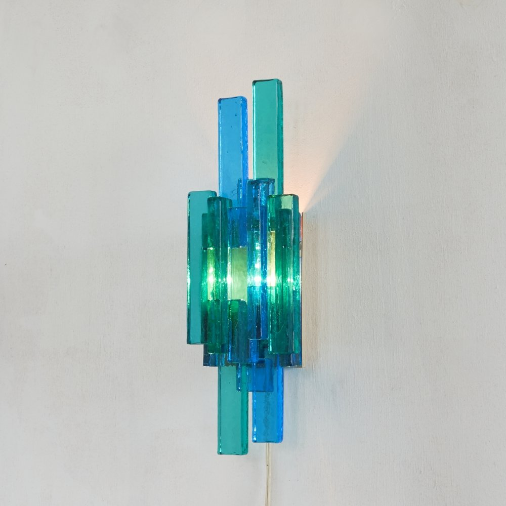 Glass Wall Sconce by Svend Aage Holm-Sorensen