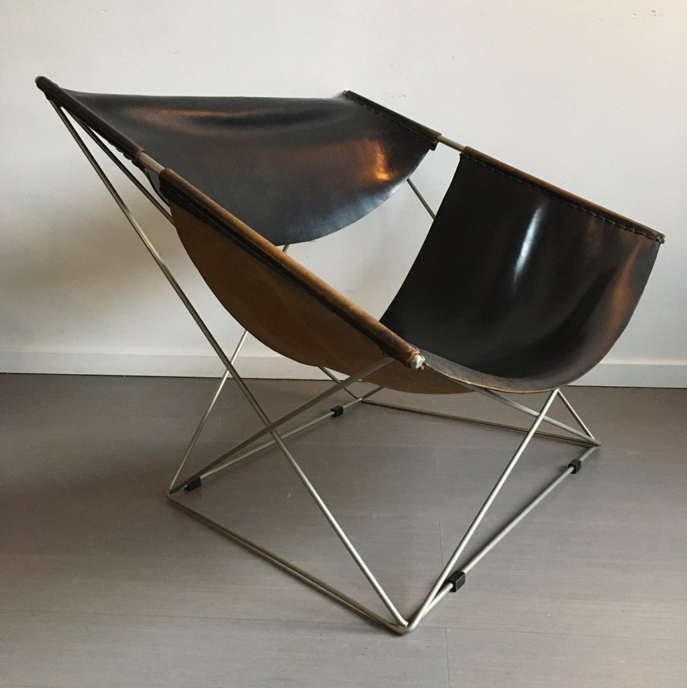 1st edition Butterfly 675 lounge chair by Pierre Paulin for Artifort, 1960s