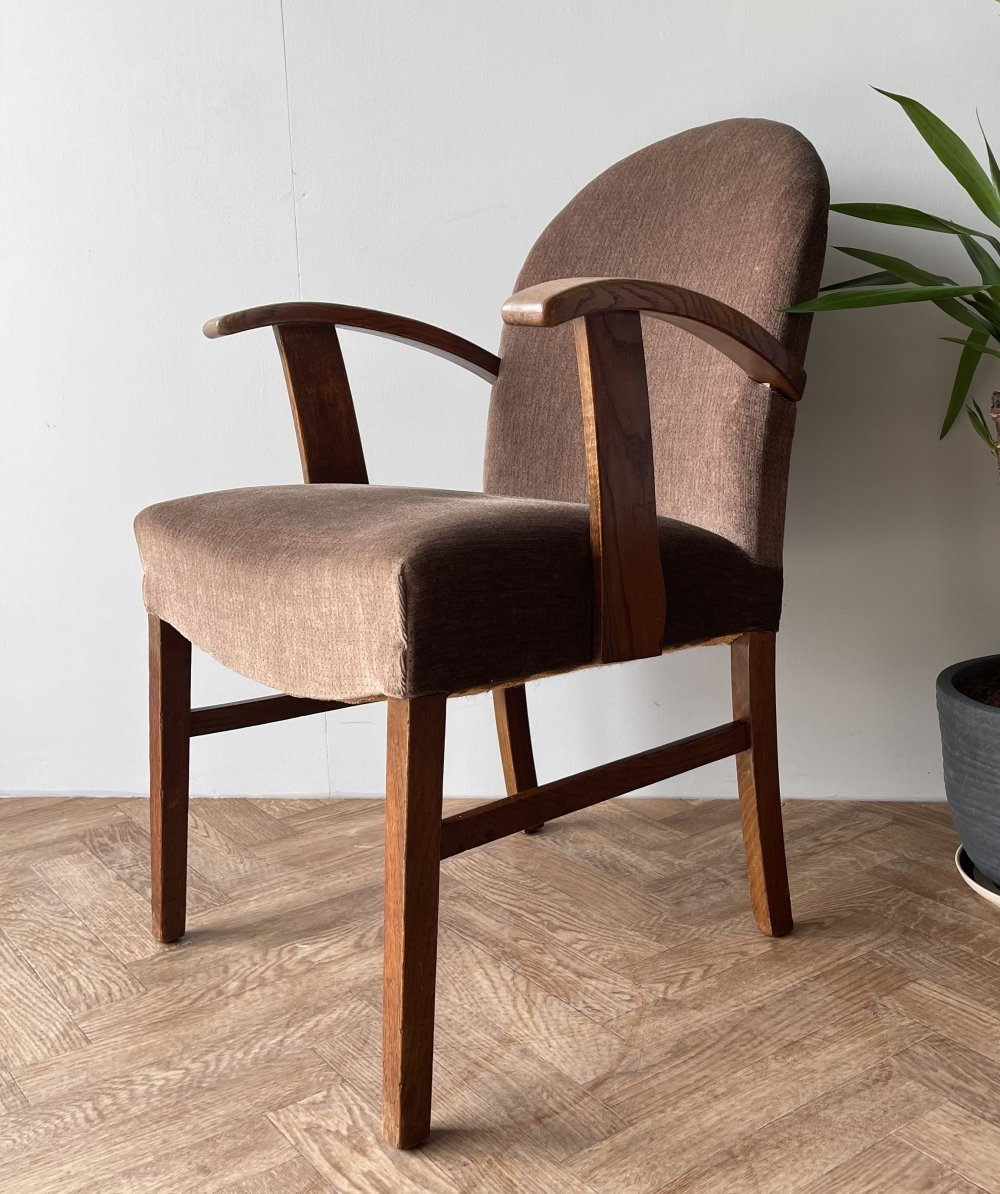 Vintage mid century upholstered armchair, 1950s