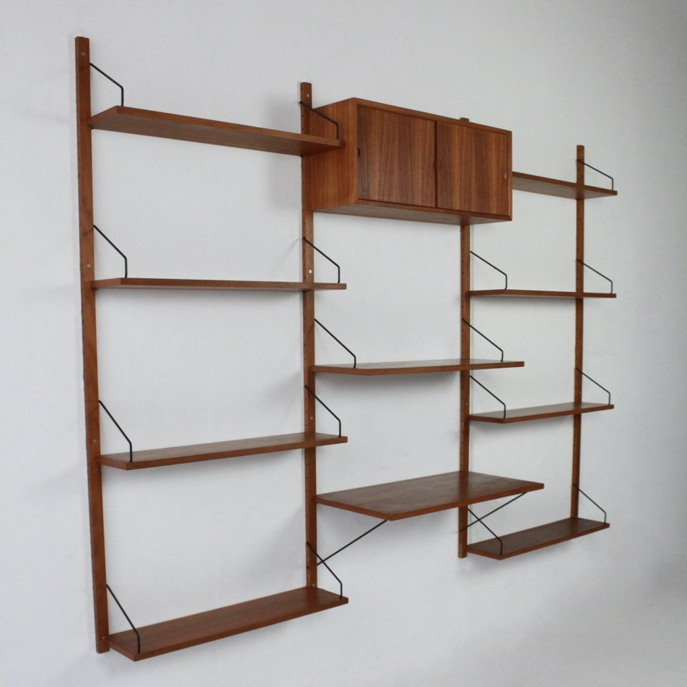 Vintage Royal System wall unit by Poul Cadovius for Cado, Denmark 1960