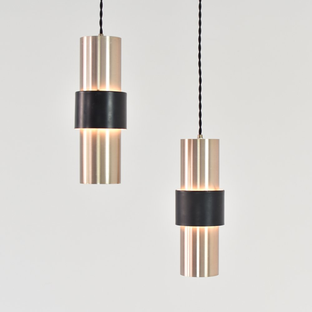 Pair of B-1198 pendant lamps by RAAK, The Netherlands 1960