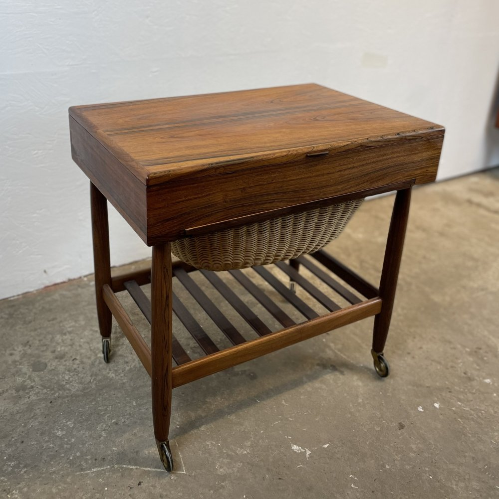 Rosewood Sewing Table by Ejvind A. Johansson for FDB, Denmark 1960