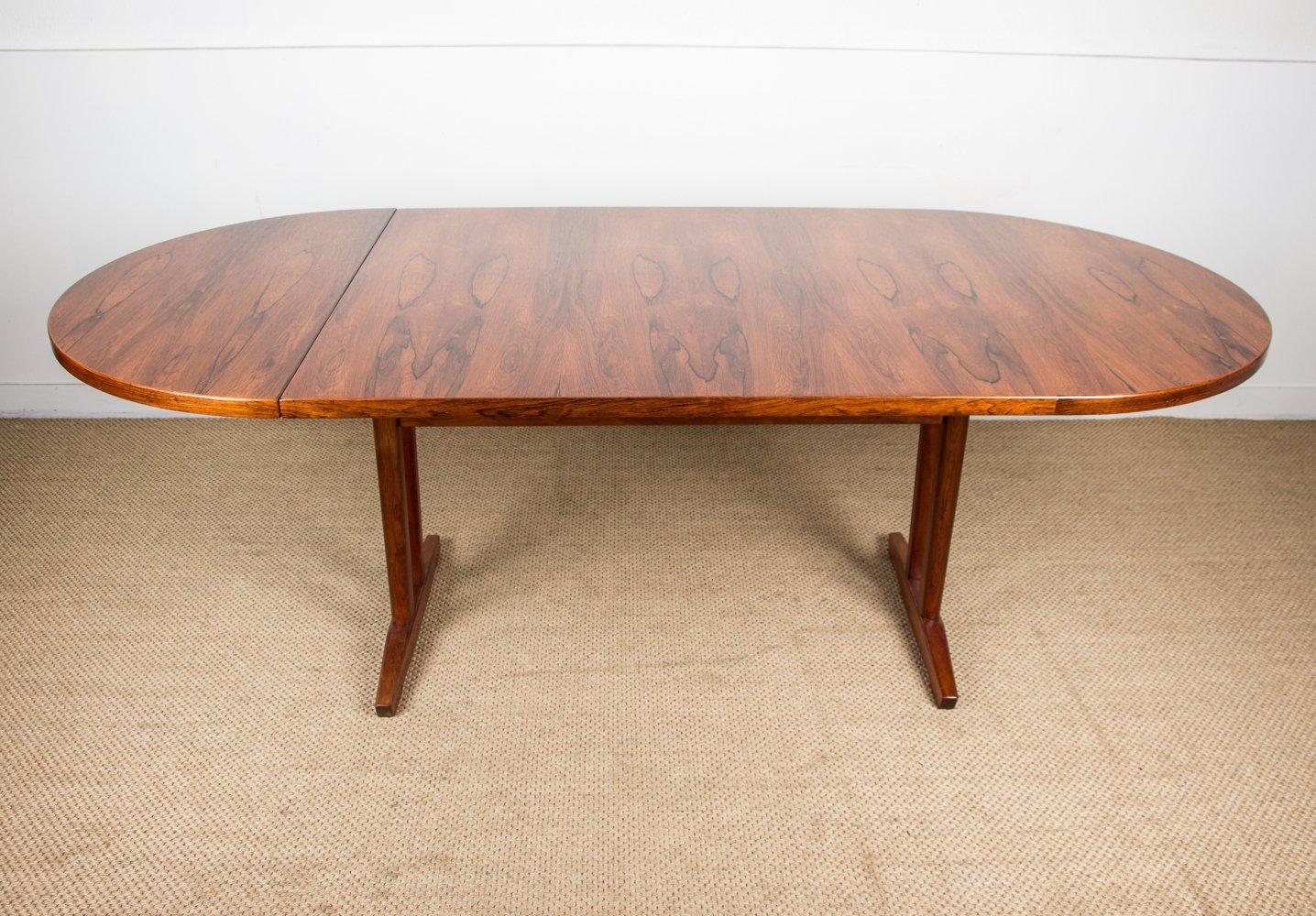 Large Scandinavian Oval Dining Table in Brazilian Rosewood