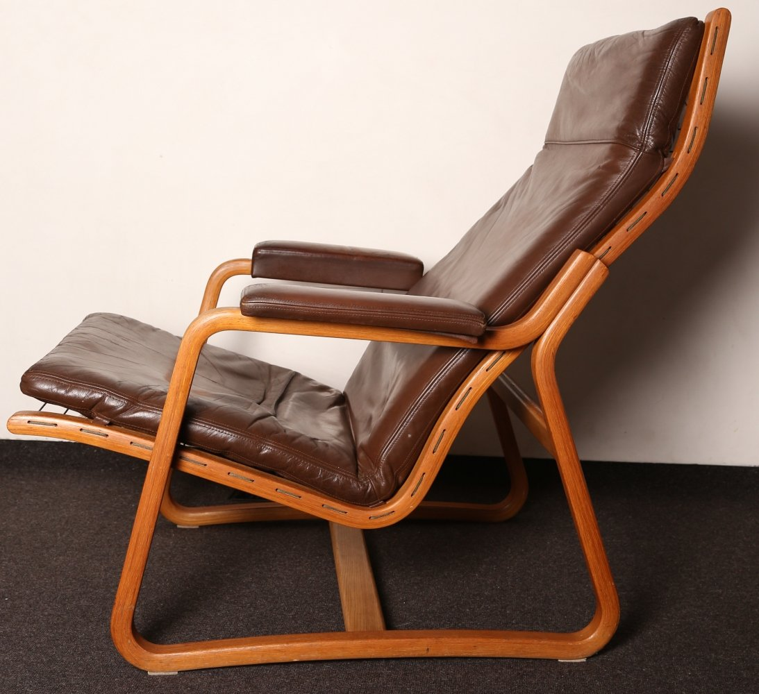 70s Leather 2 position recliner by Ditte & Adrian Heath for France & Son