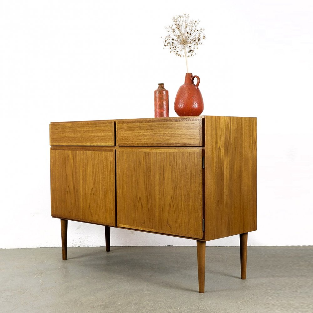 Teak Sideboard with two drawers by Omann Jun, 1970s