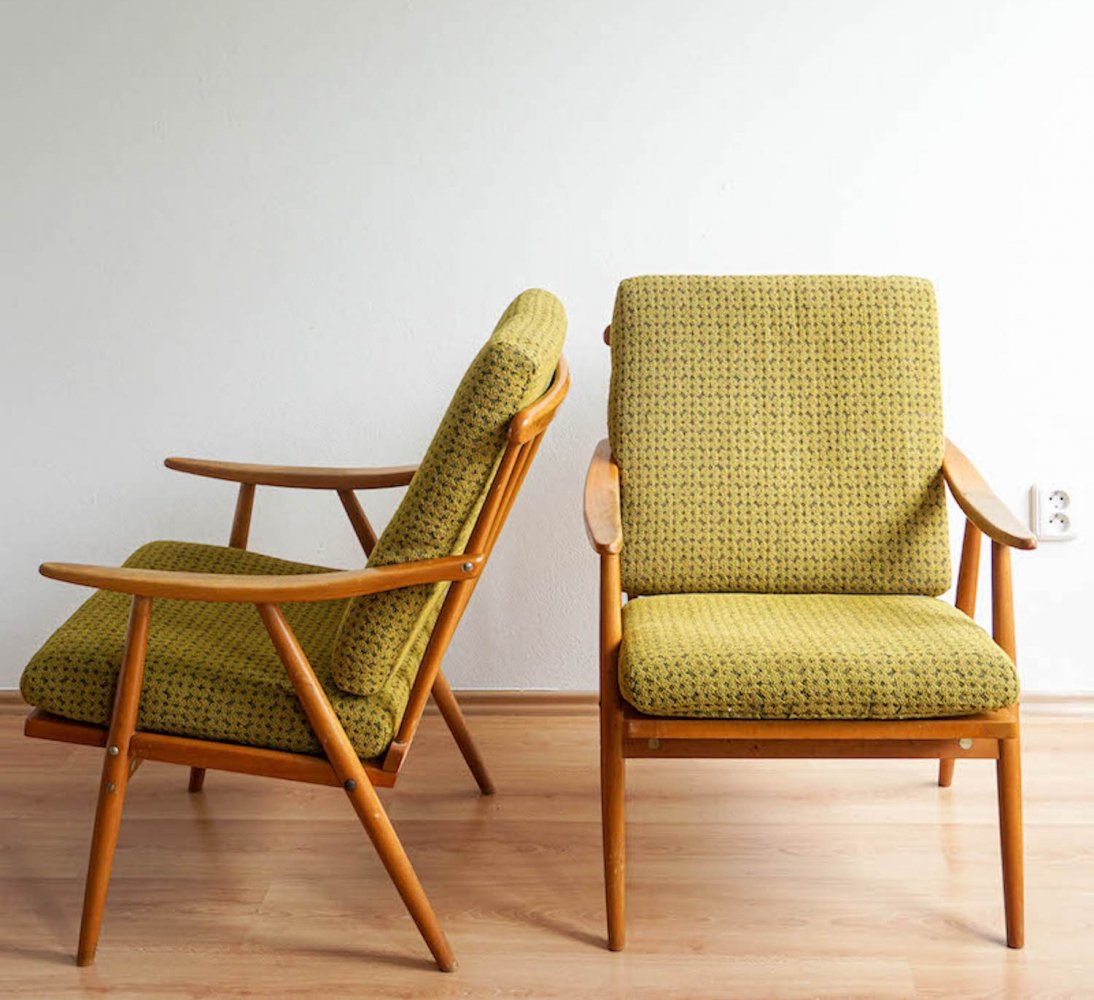 Pair of armchairs by TON, 1960s