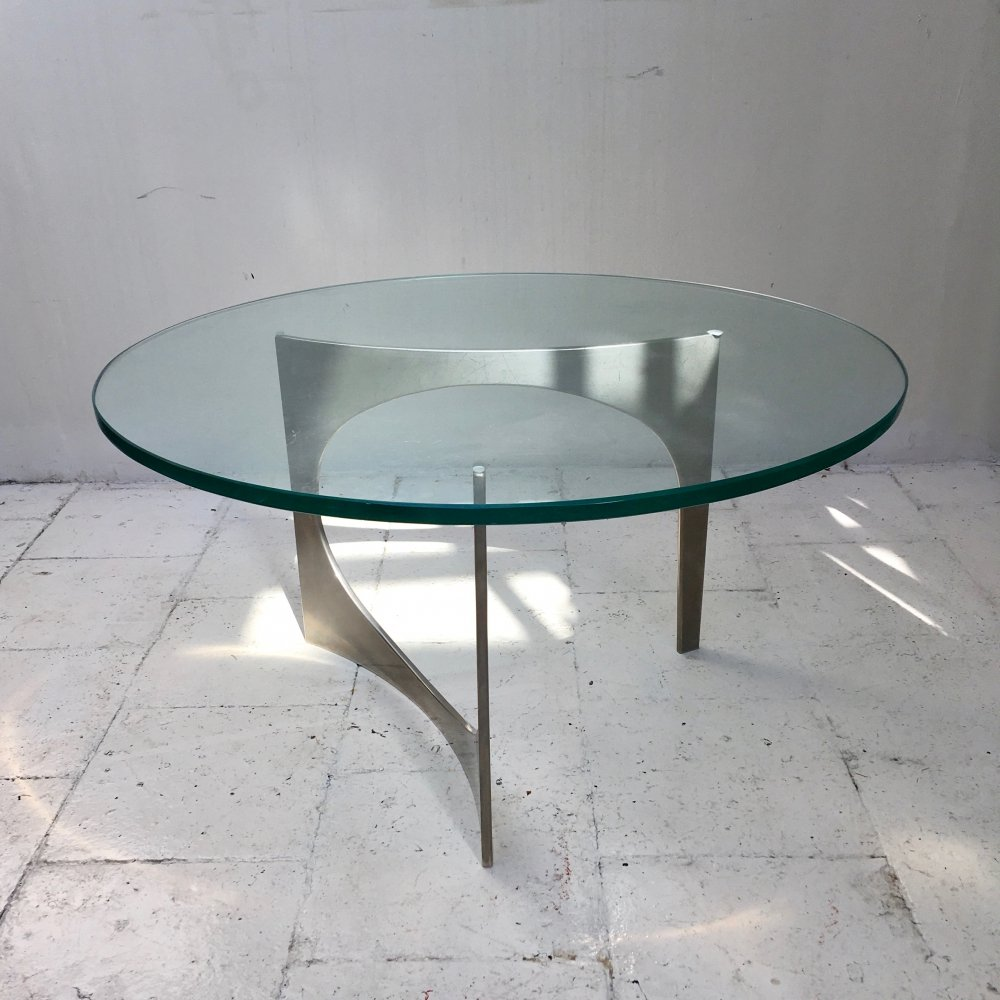 Sculptural coffee table by Knut Hesterberg, 1970s