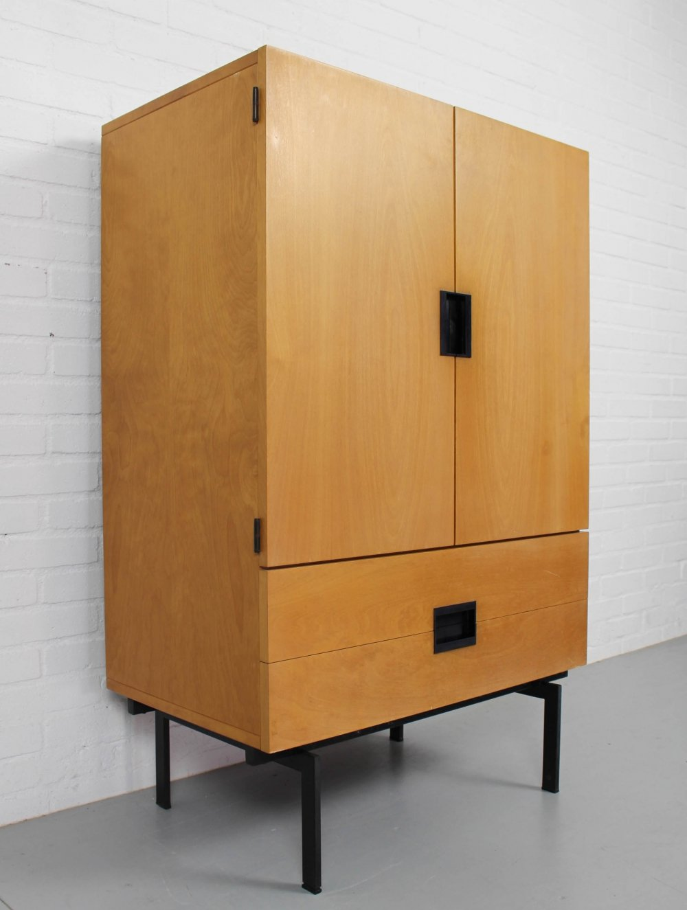 Japanese series birch cabinet CU03 by Cees Braakman for Pastoe, 1950s