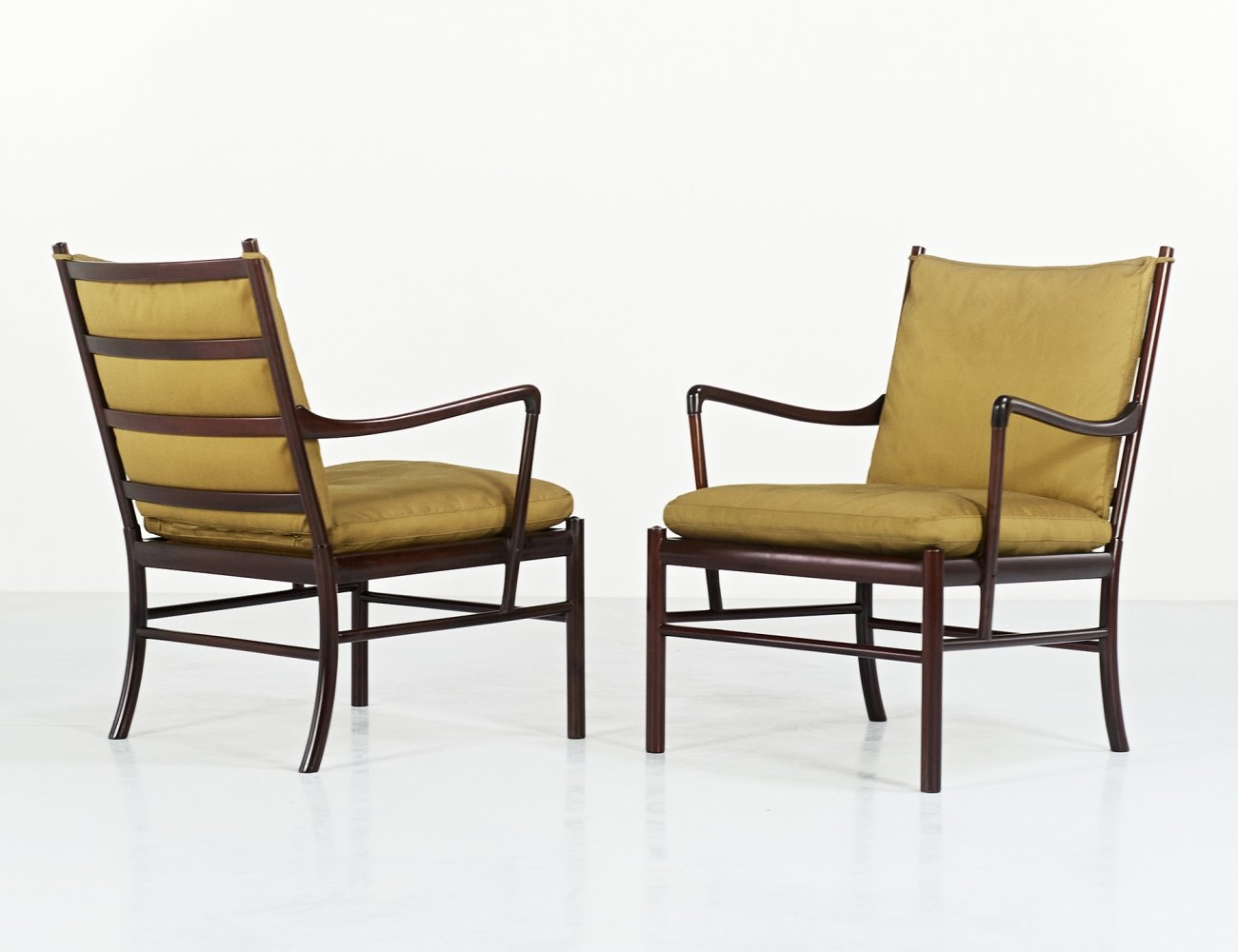 Ole Wanscher pair of PJ 149 Colonial armchairs for Poul Jeppesen, 1950s