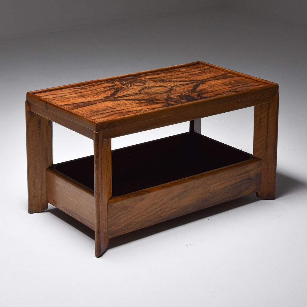 Art deco modernist two tier coffee table by H. Wouda, 1930s