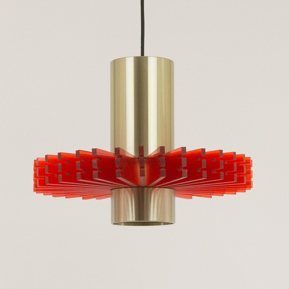 Red Priest collar pendant by Claus Bolby for Cebo Industri