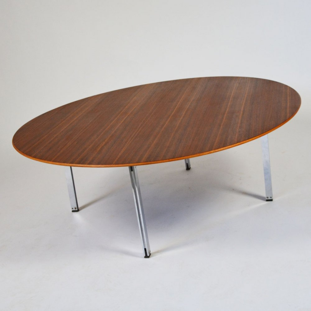 Florence Knoll Parralel Bar walnut coffee table for Knoll International, 1950s