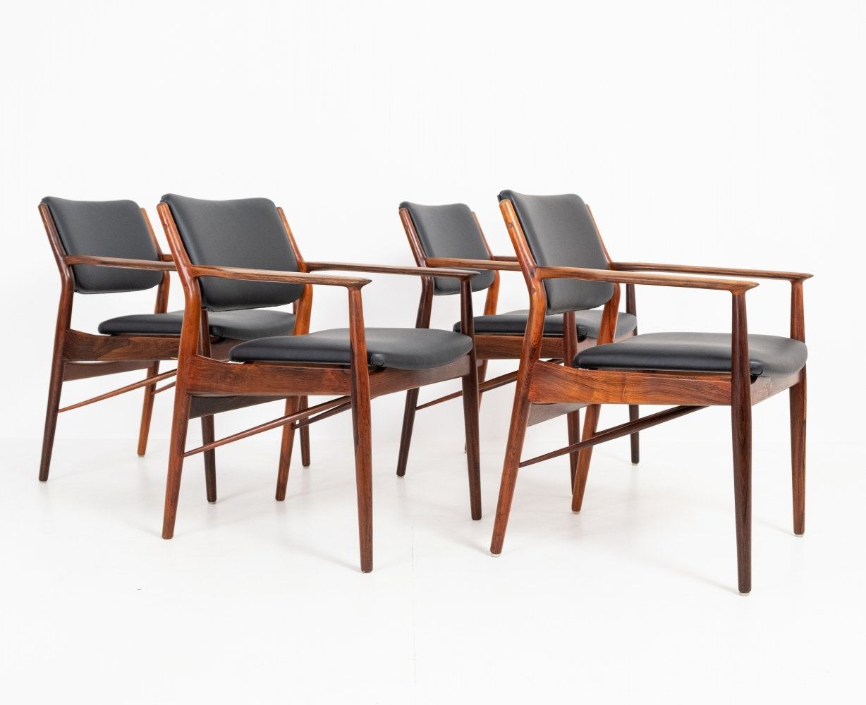 4 armchairs by Arne Vodder, 1960s