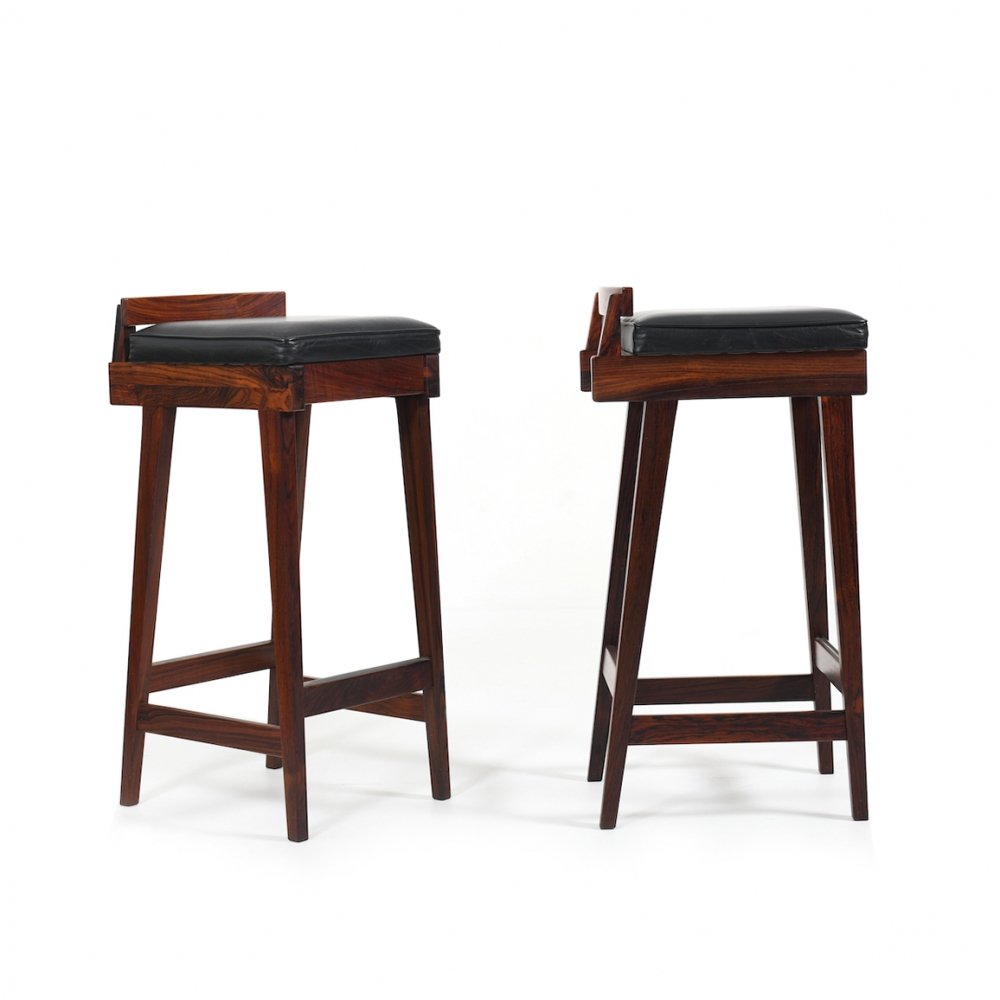 Pair of Danish Barstools by Erik Buck for Dyrlund, 1960s