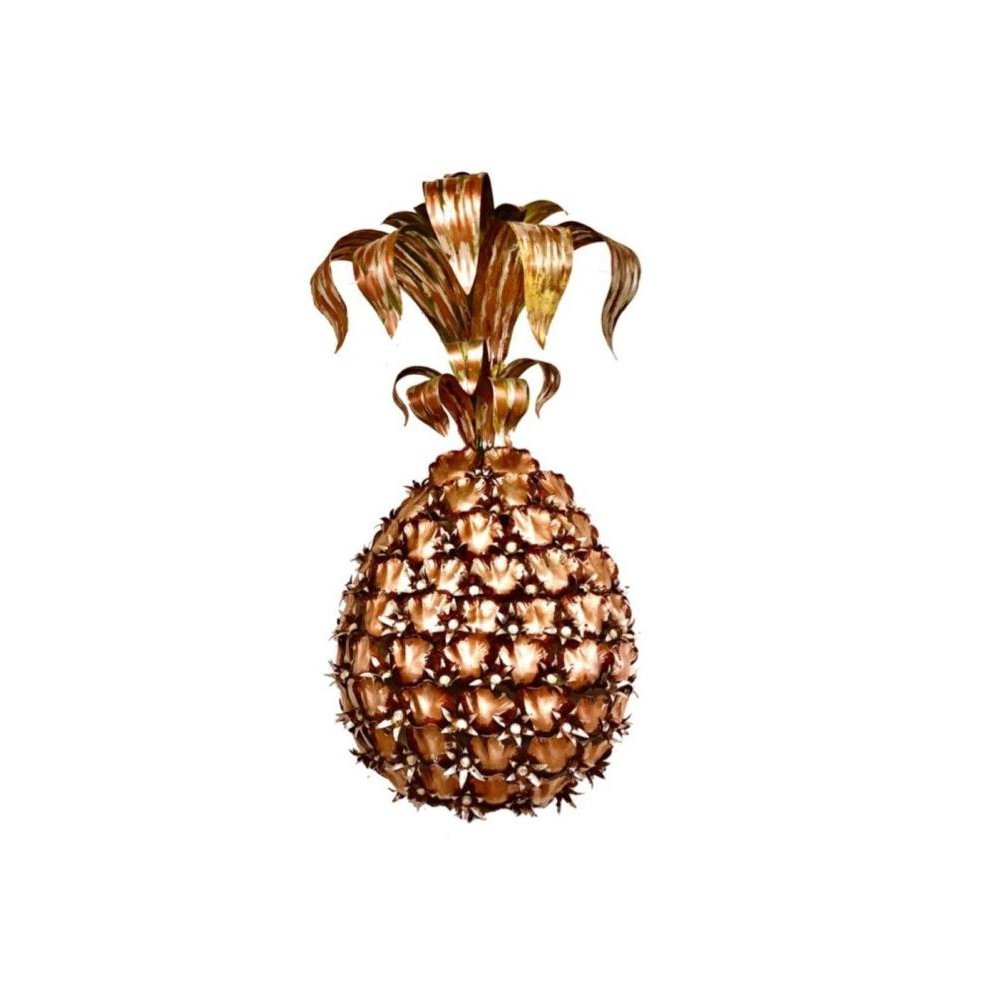 Pineapple Wall Lamp in Hollywood Regency Style, 1950s