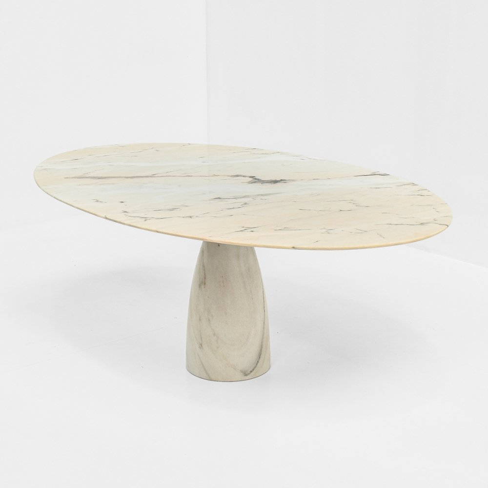 Oval Marble Coffee Table by Peter Draenert, 1970s