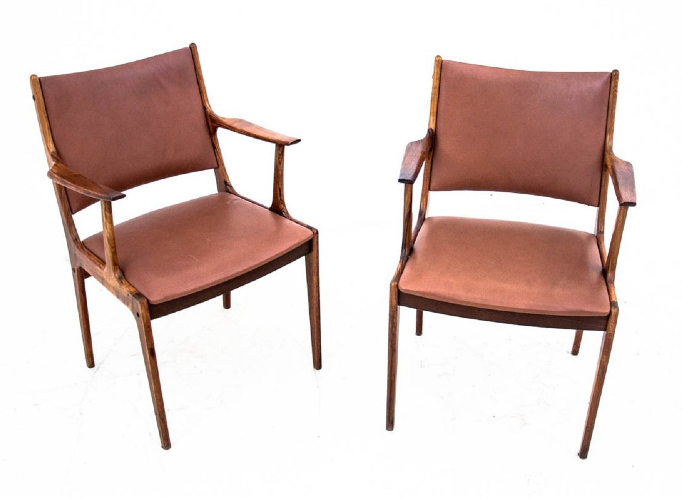 Two vintage rosewood armchairs, Danish design 1960s