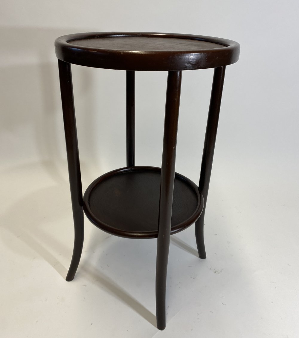 Bentwood Thonet round side table