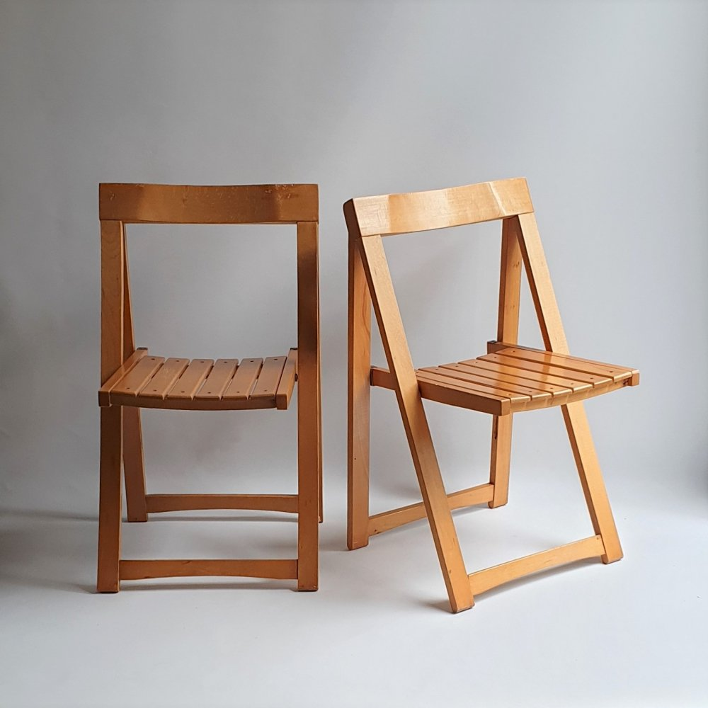 Pair of folding chairs by Aldo Jacober for Alberto Bazzani, 1960s