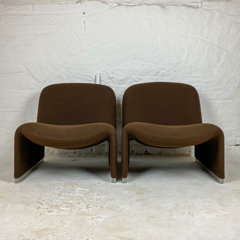 Alky Lounge Chairs by Giancarlo Piretti for Artifort & Castelli, 1970s