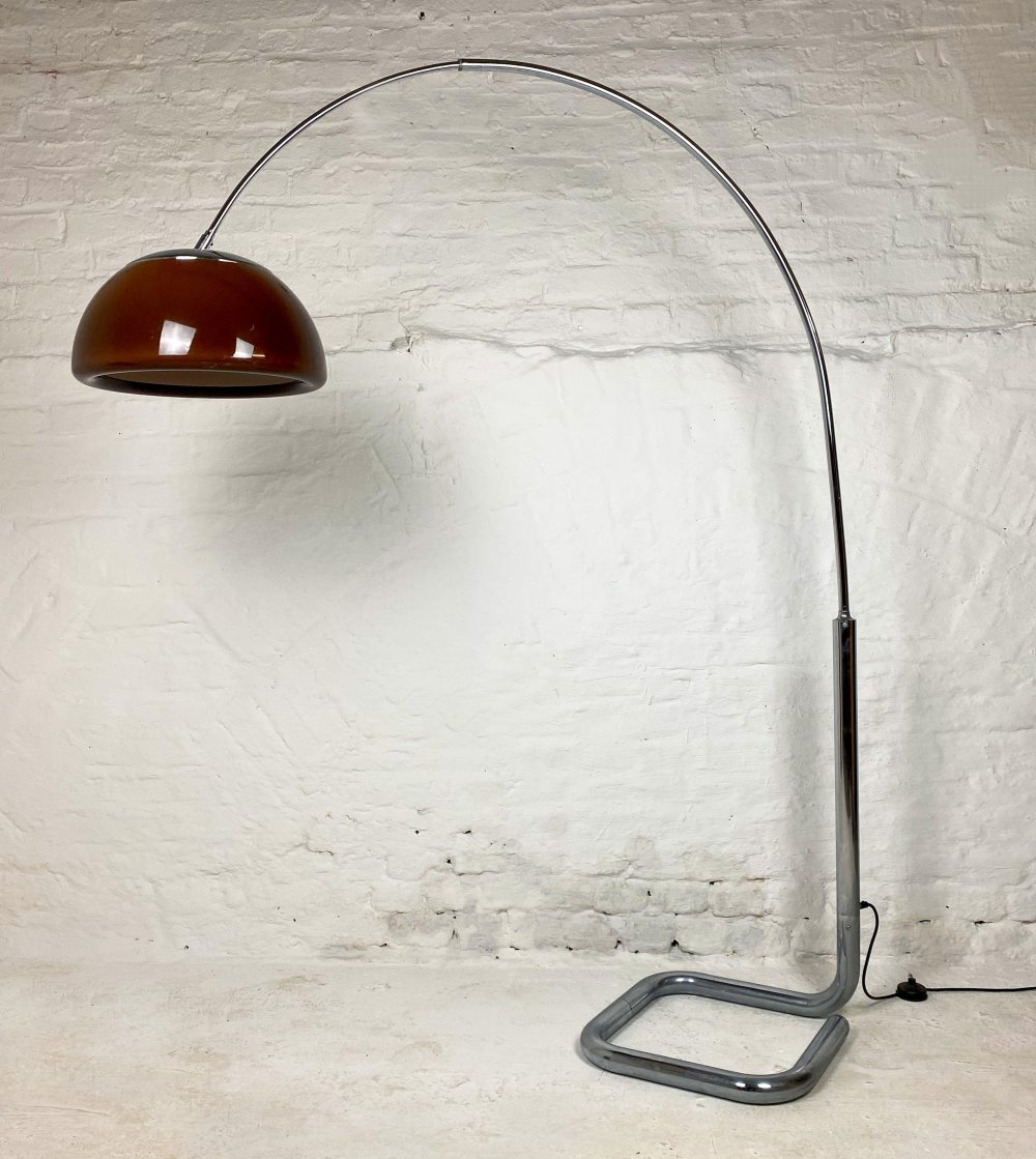 Vintage Chrome Arc Lamp by Cosack, 1970s