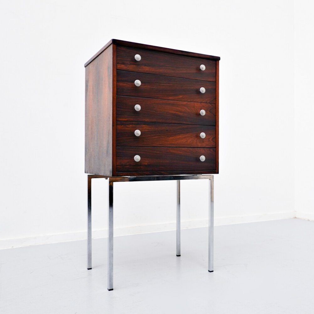 Little rosewood chest of drawers, 1960s