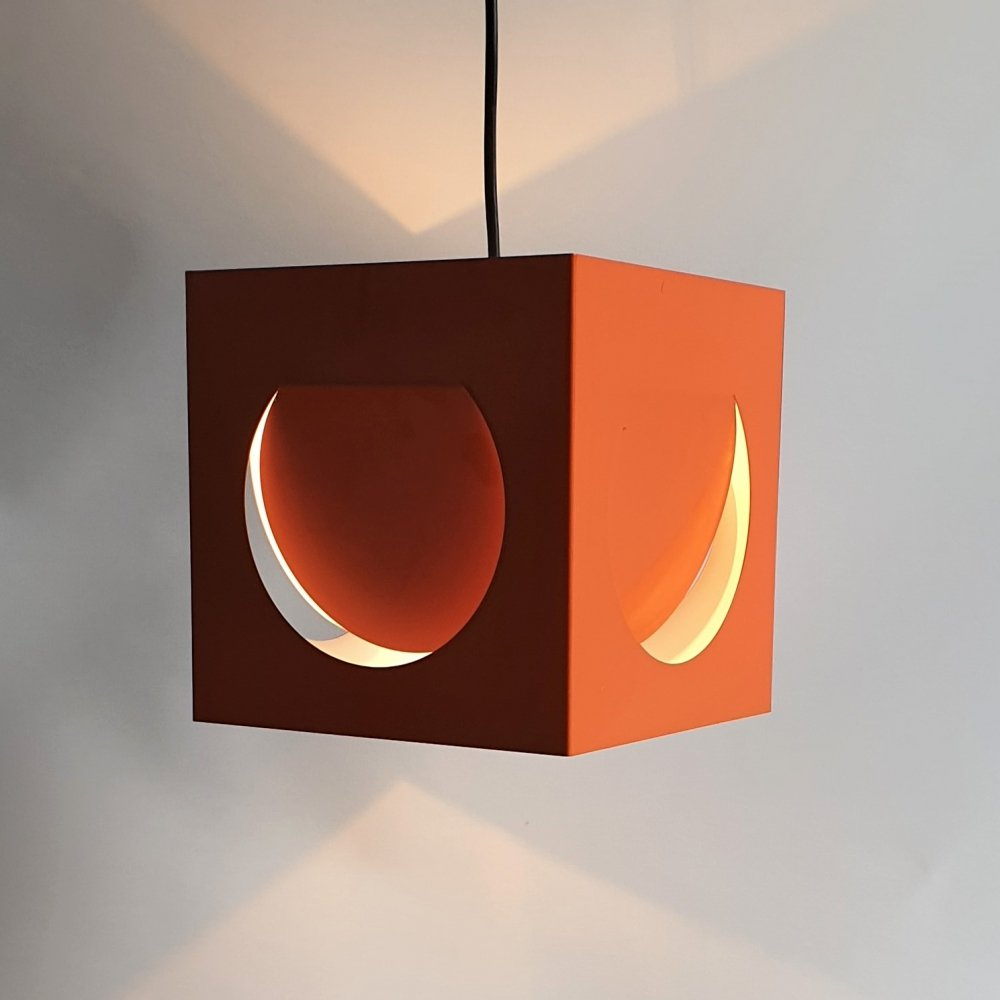 Space Age Cube Hanging Lamp by Shogo Suzuki for Orno, 1960s