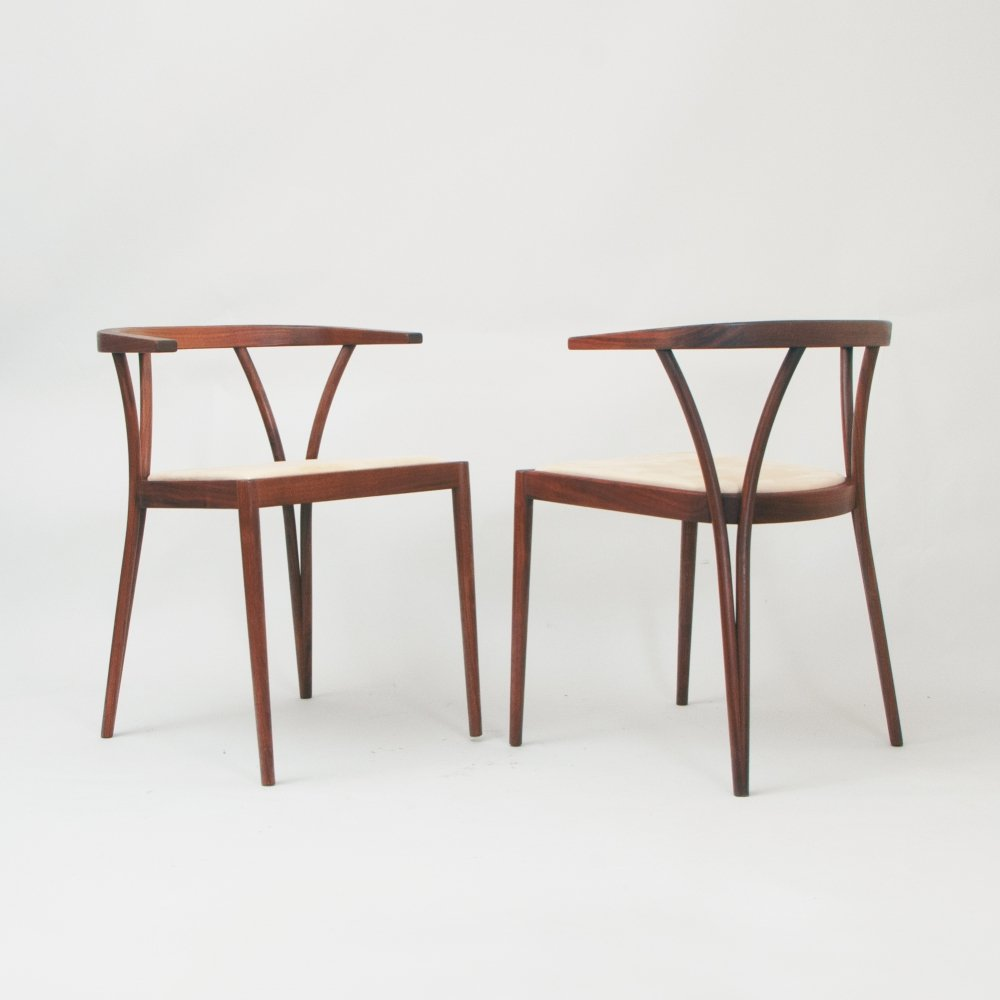 Pair of side chairs by Poul Jeppensen, 1970s