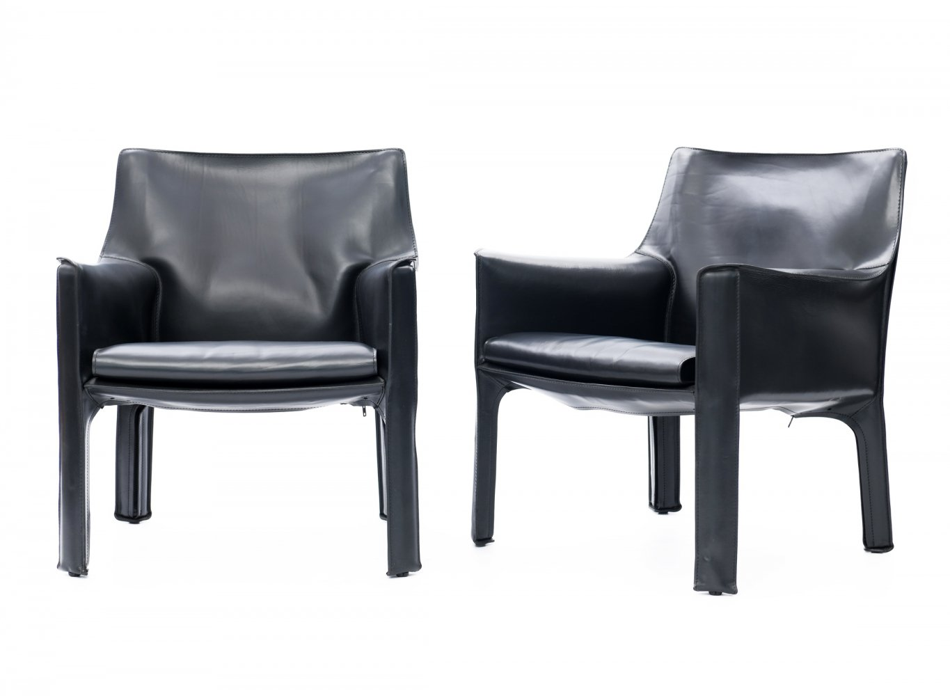 Pair of CAB 414 chairs by Mario Bellini for Cassina, 1980s