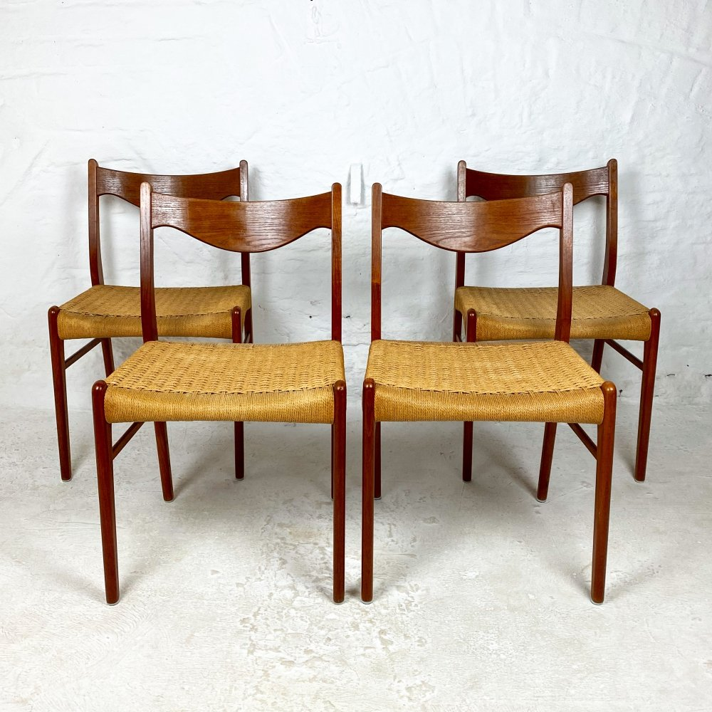 Set of 4 Teak Dining Chairs by Arne Wahl Iversen for Glyngøre Stolefabrik, 1960s