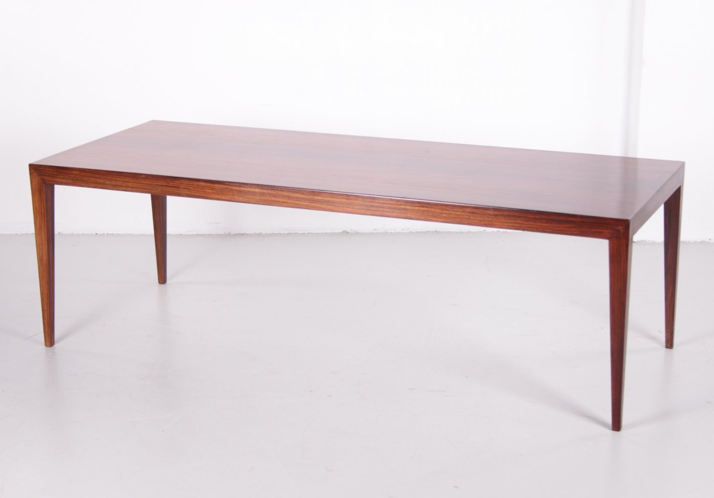 Elongated coffee table by Severin Hansen for Haslev Møbelsnedkeri, 1960s