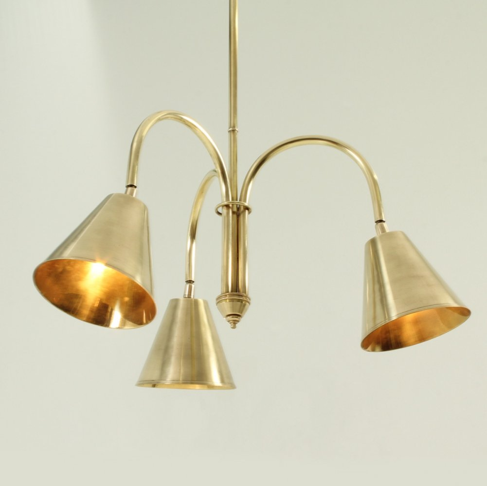 Brass Ceiling Lamp by Valenti, Spain 1950