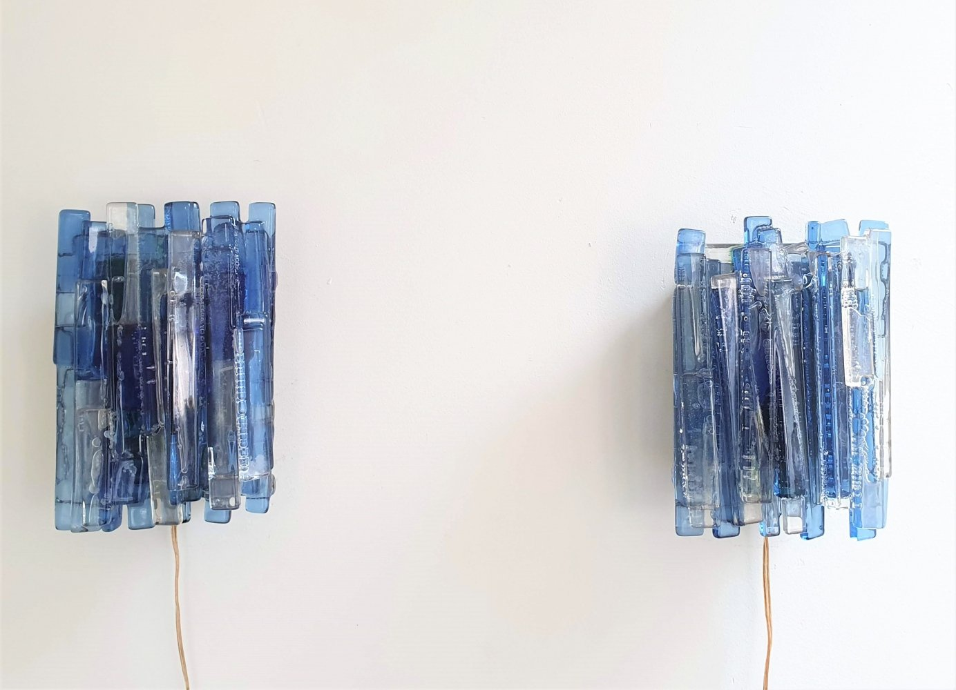 Pair of Large Claus Bolby wall lamps by Cebo Industri, Denmark 1960s