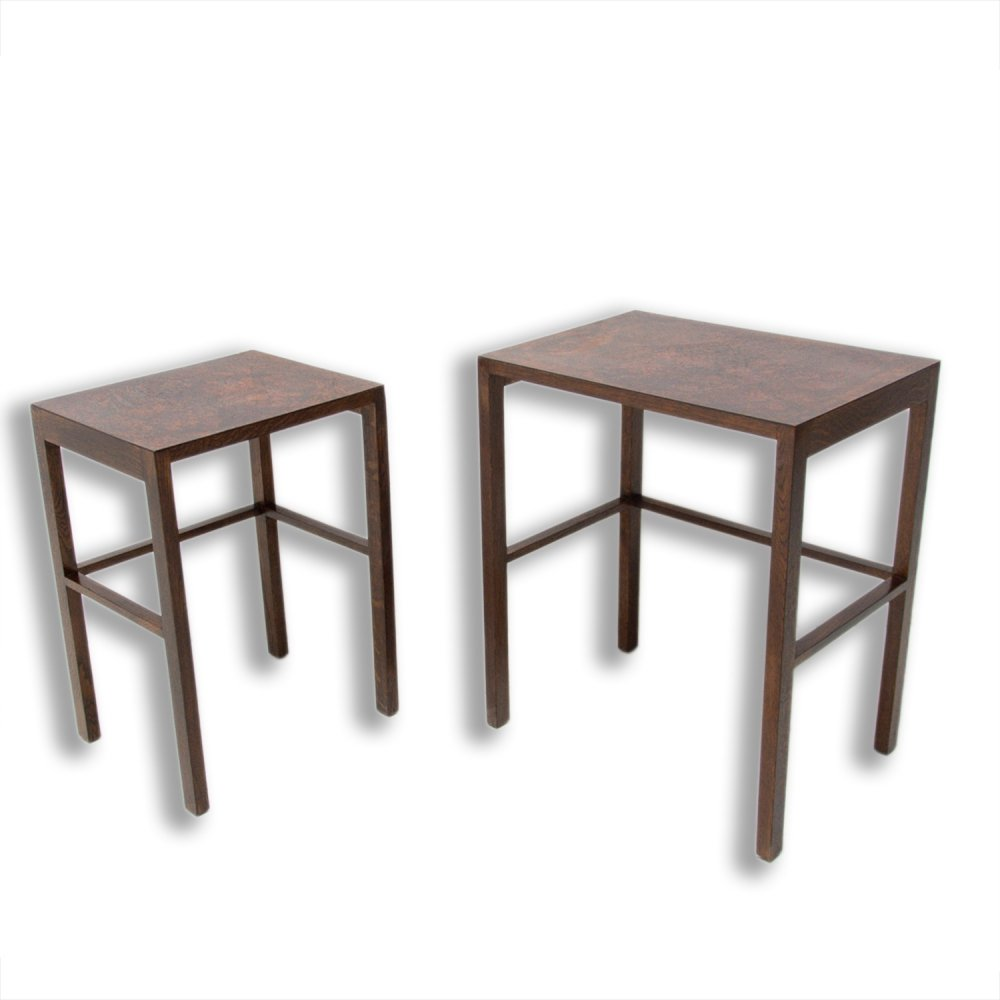 Pair of Modernist Nesting Tables H-50 by Jindrich Halabala, 1950s