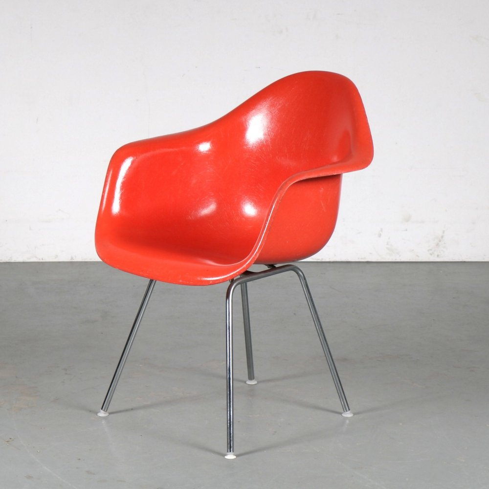 6 DAX chairs by Charles & Ray Eames for Herman Miller / Vitra, Germany 1970s