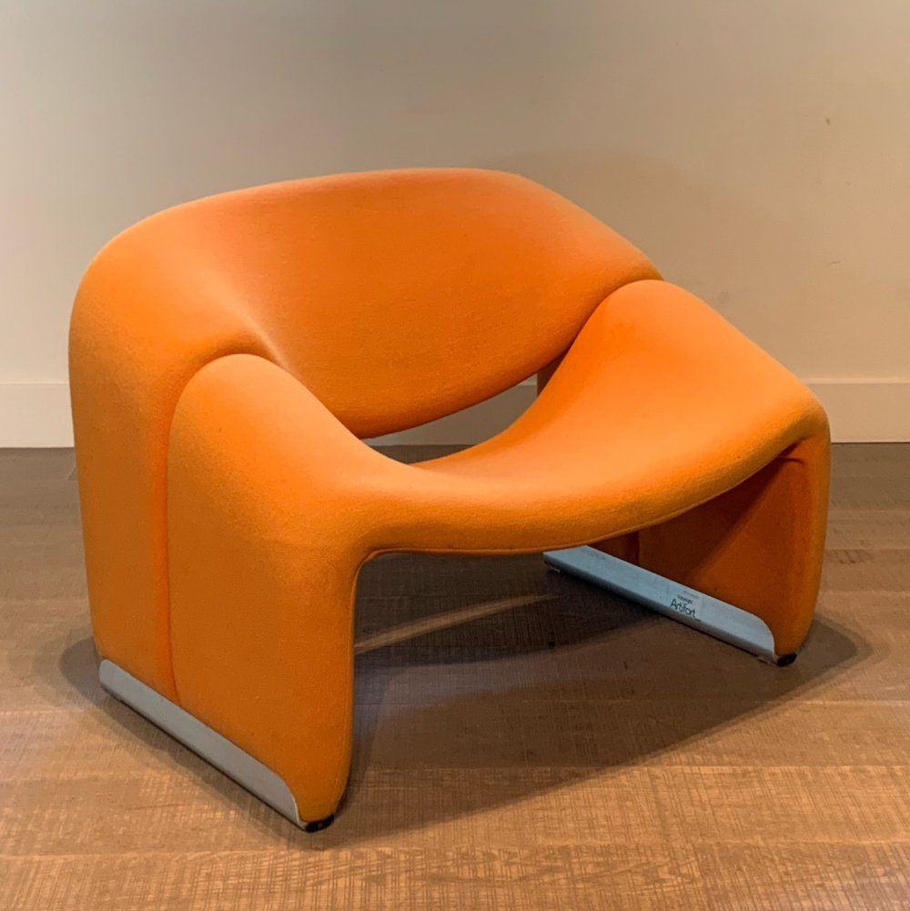 Red F598 Groovy M chair by Pierre Paulin for Artifort, 1960s